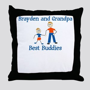 Brayden & Grandpa - Best Budd Throw Pillow