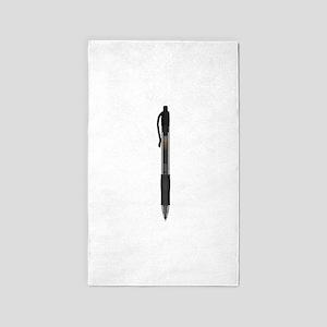 Black Ink Pen 3'x5' Area Rug