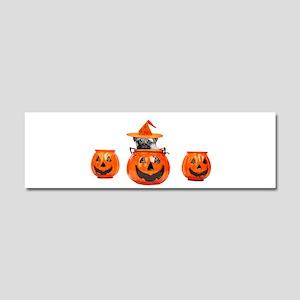Halloween Pug Dog Car Magnet 10 x 3