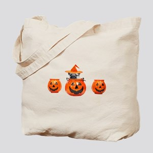 Halloween Pug Dog Tote Bag
