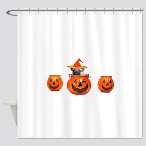 Halloween Pug Dog Shower Curtain