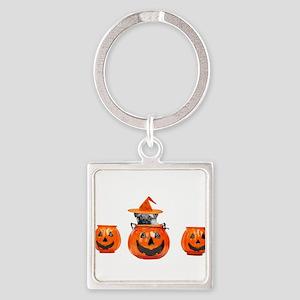 Halloween Pug Dog Keychains