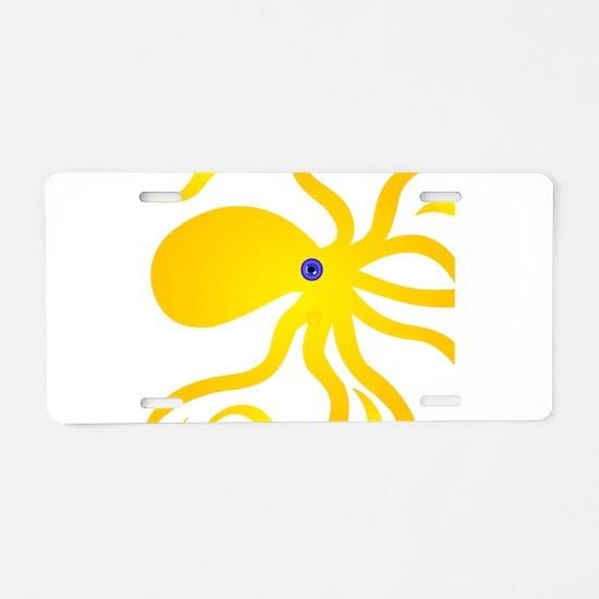 Octi Octopus Aluminum License Plate