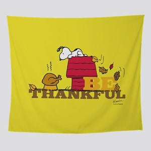 Snoopy Be Thankful Wall Tapestry