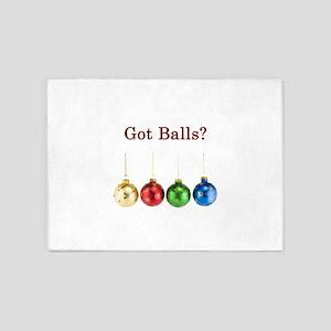 Got Christmas Balls 5'x7'Area Rug