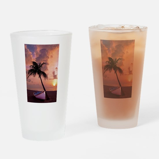 Unique Red cloudy sunrise Drinking Glass