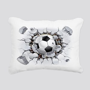 Soccer Ball Rectangular Canvas Pillow