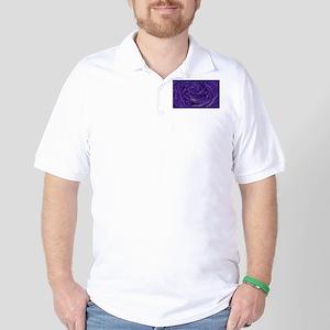 Blue Rose of Love Golf Shirt