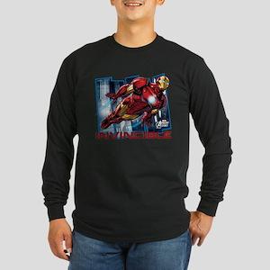 Iron Man Invincible Long Sleeve Dark T-Shirt