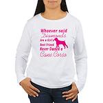 Cane Corso Girls Best Women's Long Sleeve T-Shirt