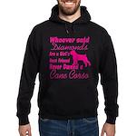 Cane Corso Girls Best Friend Hoodie (dark)