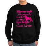 Cane Corso Girls Best Friend Sweatshirt (dark)
