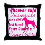 Cane Corso Girls Best Friend Throw Pillow