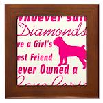 Cane Corso Girls Best Friend Framed Tile