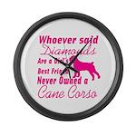 Cane Corso Girls Best Friend Large Wall Clock