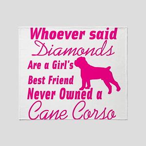 Cane Corso Girls Best Friend Throw Blanket