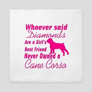 Cane Corso Girls Best Friend Queen Duvet