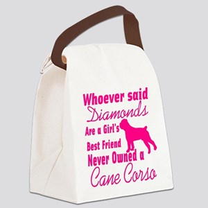 Cane Corso Girls Best Friend Canvas Lunch Bag