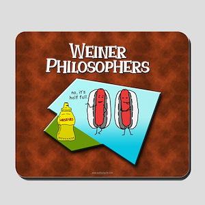 Weiner Philosophers... Mousepad