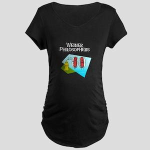 Weiner Philosophers... Maternity Dark T-Shirt