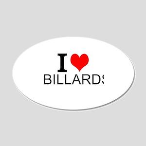 I Love Billards Wall Decal
