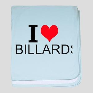 I Love Billards baby blanket
