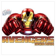 Iron Man Fists Wall Art Poster