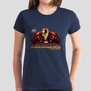 Iron Man Fists Women's Dark T-Shirt