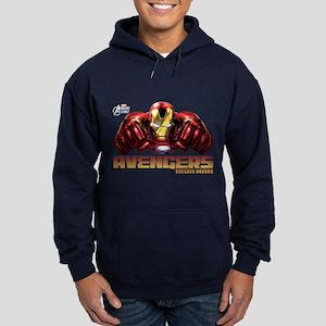 Iron Man Fists Hoodie (dark)