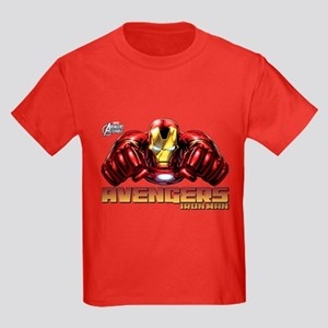 Iron Man Fists Kids Dark T-Shirt