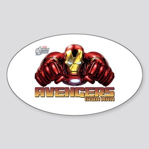 Iron Man Fists Sticker (Oval)