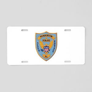 Bradenton Police Aluminum License Plate