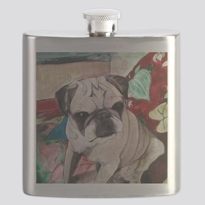 Muggsy the Pug Flask