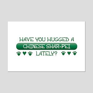 Hugged Shar-Pei Mini Poster Print