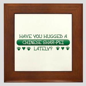 Hugged Shar-Pei Framed Tile
