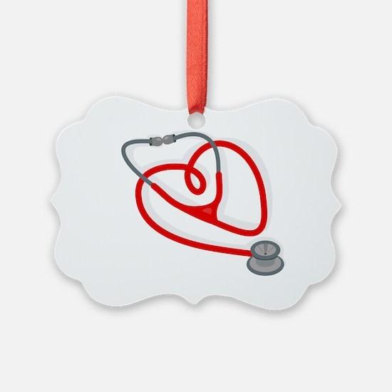 Stethoscope Heart Ornament