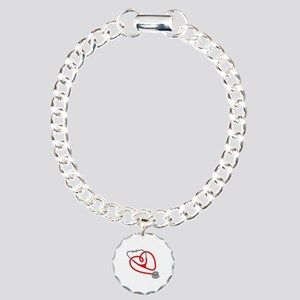 Stethoscope Heart Bracelet