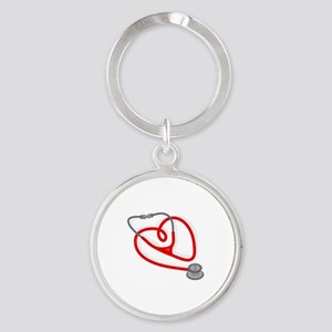 Stethoscope Heart Keychains