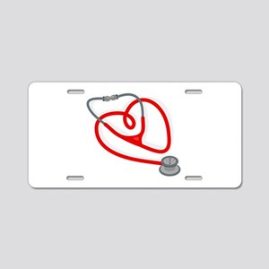 Stethoscope Heart Aluminum License Plate