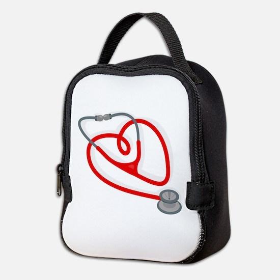 Stethoscope Heart Neoprene Lunch Bag