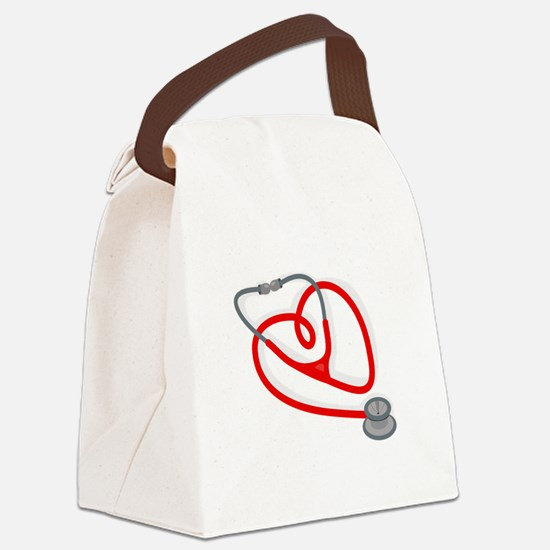 Stethoscope Heart Canvas Lunch Bag