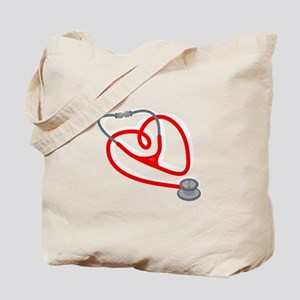 Stethoscope Heart Tote Bag
