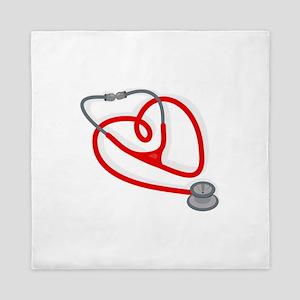 Stethoscope Heart Queen Duvet