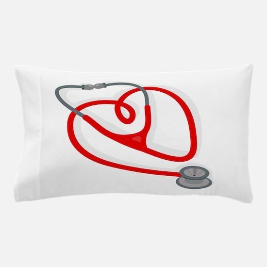 Stethoscope Heart Pillow Case