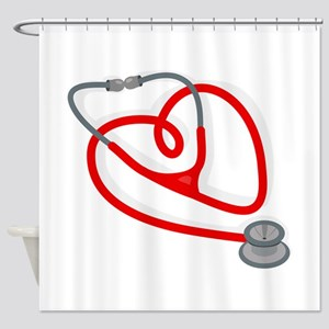 Stethoscope Heart Shower Curtain