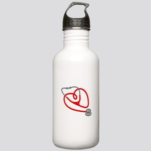Stethoscope Heart Water Bottle