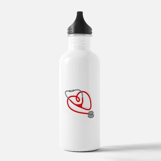 Stethoscope Heart Water Bottle