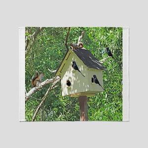 Cute Birdhouse Throw Blanket