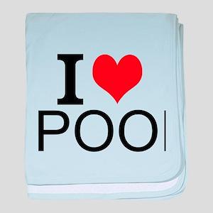 I Love Pool baby blanket