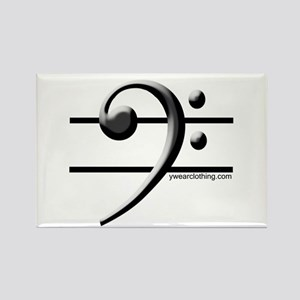 Bass Line Rectangle Magnet